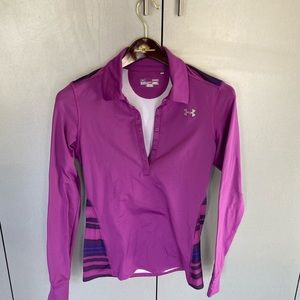 Cold gear long sleeve pull-over (7 button-down)